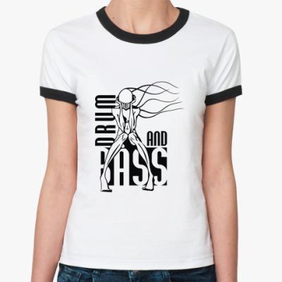 Женская футболка Ringer-T D'n'B
