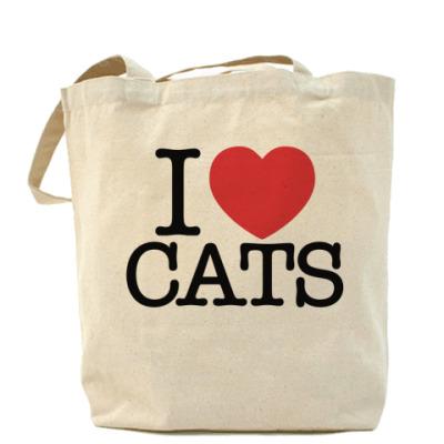Сумка i love cats!