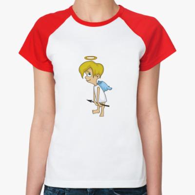 Женская футболка реглан Ангел