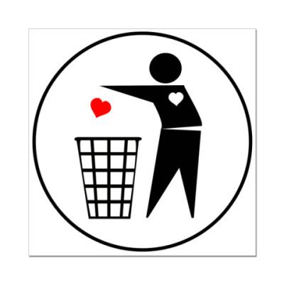Наклейка (стикер) Throw out Heart