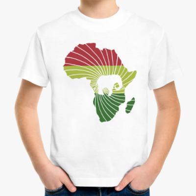 Детская футболка Африканский слон