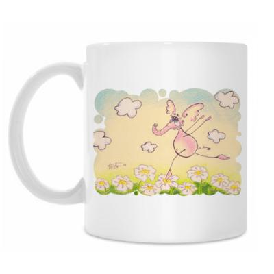 Кружка Розовый слоник