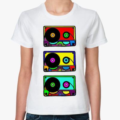 Классическая футболка Retro music
