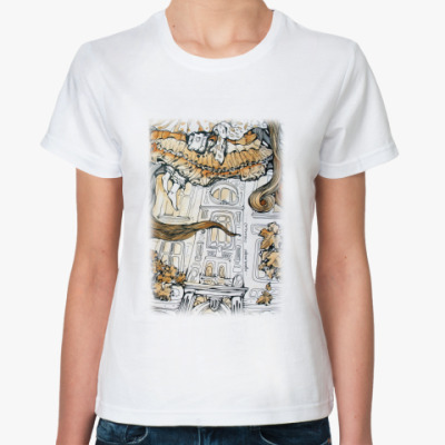 Классическая футболка  Алиса в Стране чудес