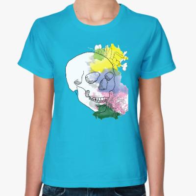 Женская футболка Майский череп