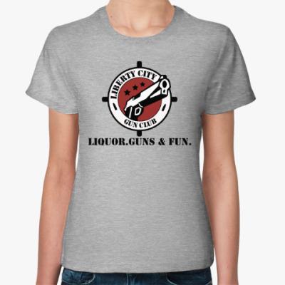 Женская футболка Grand Theft Auto - Gun Club