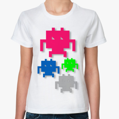 Классическая футболка Космические захватчики