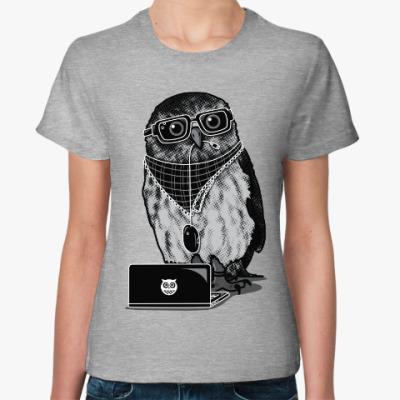 Женская футболка Умная Сова