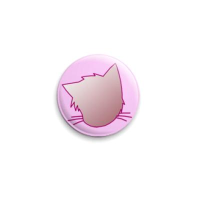 Значок 25мм  Розовая нэка