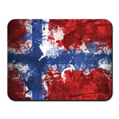 Коврик для мыши Норвежский флаг