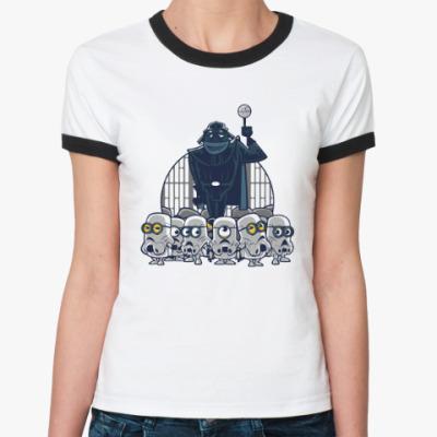 Женская футболка Ringer-T Darth Vader & Minions