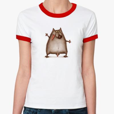 Женская футболка Ringer-T  ж Волк