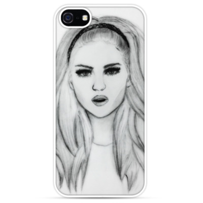 Чехол для iPhone Рисунок девушка