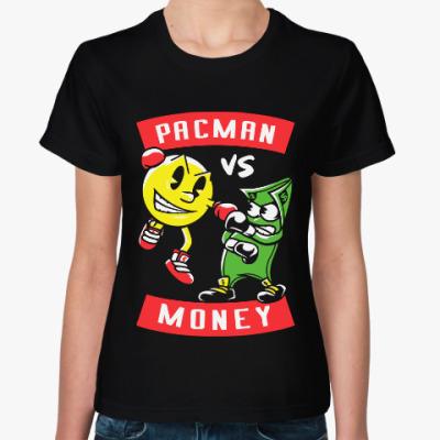 Женская футболка Пакман Маней