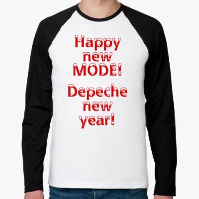 Футболка реглан с длинным рукавом  Depeche Mode