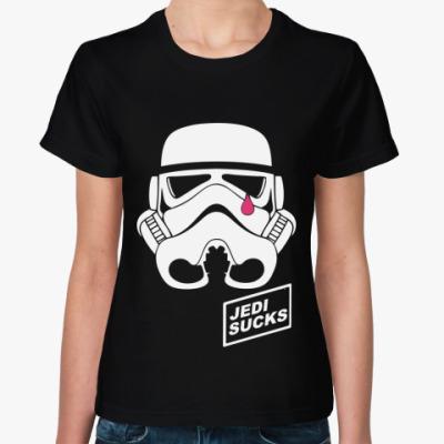 Женская футболка   Jedi Sucks