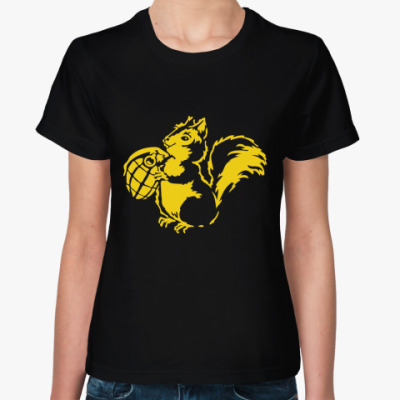 Женская футболка   Белка