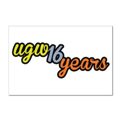 Наклейка (стикер)  16 лет UGW