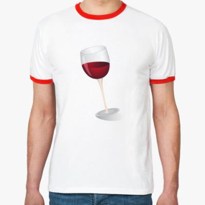Футболка Ringer-T Красное вино