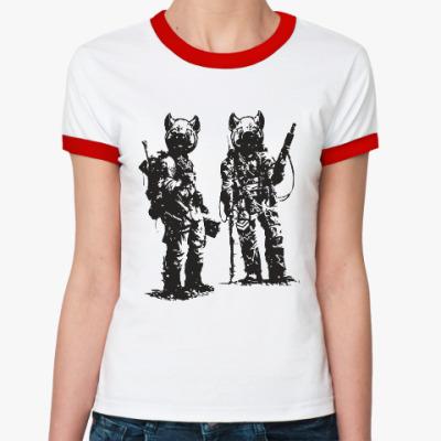 Женская футболка Ringer-T War Pigs