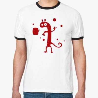 Футболка Ringer-T doodle monster