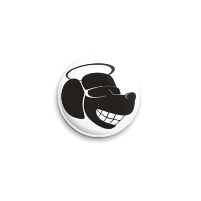 Значок 25мм Happy Dog