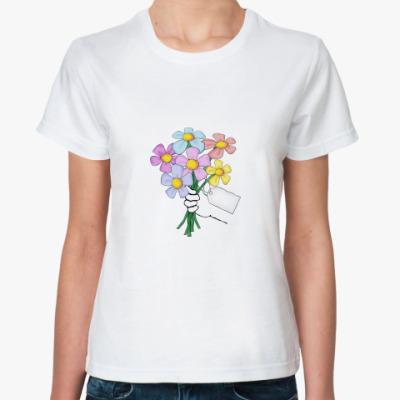 Классическая футболка Букет
