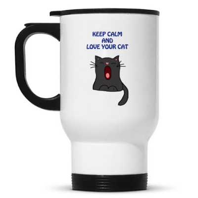 Кружка-термос Keep calm and love your cat