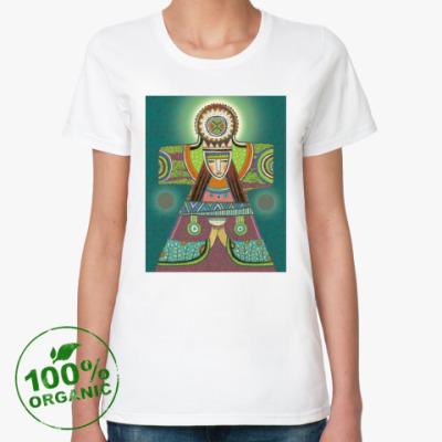 Женская футболка из органик-хлопка Солнцестояние