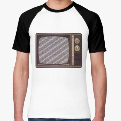 Футболка реглан  старый телевизор