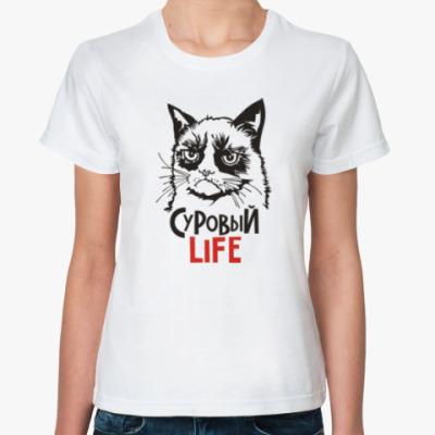 Классическая футболка Злой и сердитый кот. Angry cat