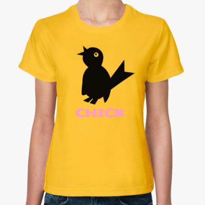 Женская футболка Птичка - чик