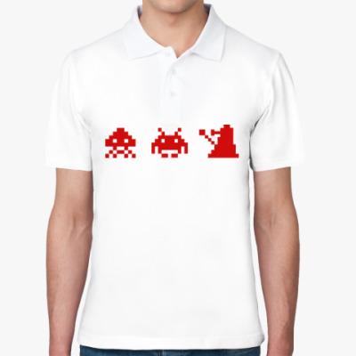 Рубашка поло Dalek & Space Invaders