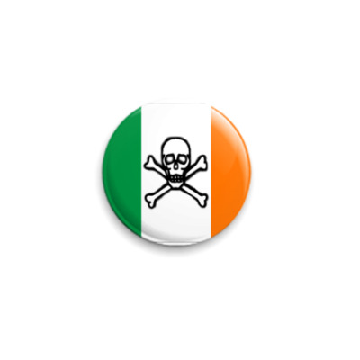 Значок 25мм scull Ireland