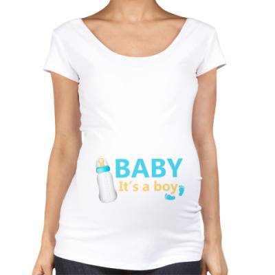 Футболка для беременных Baby It'a a boy
