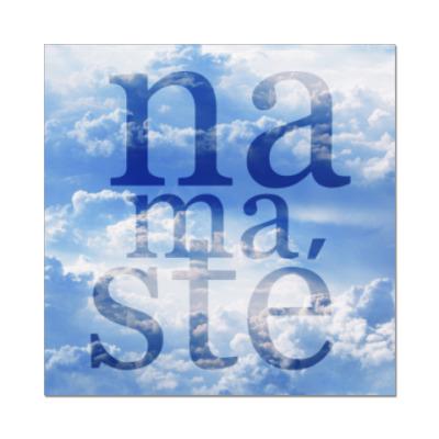 Наклейка (стикер) Yoga Namaste