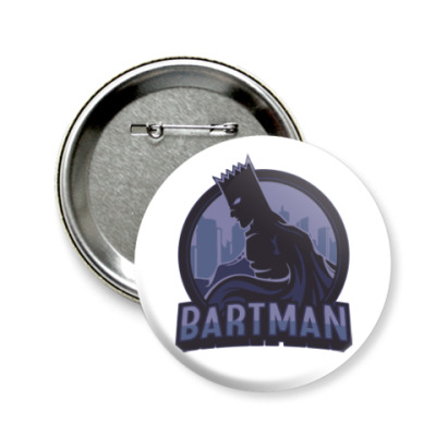 Значок 58мм Bartman