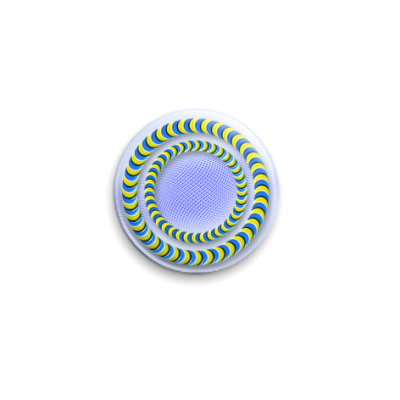 Значок 25мм Иллюзия `Кольца`