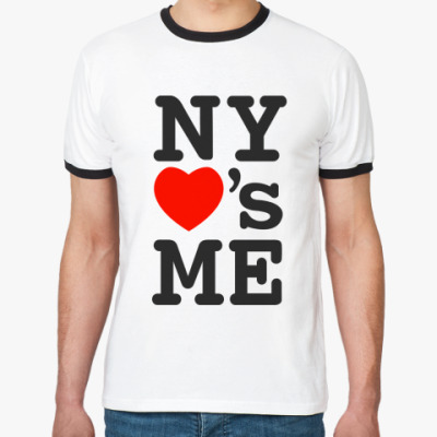 Футболка Ringer-T NY love's me