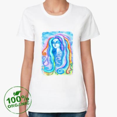 Женская футболка из органик-хлопка Индийская девушка