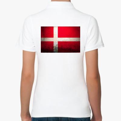Женская рубашка поло  'Датский флаг'