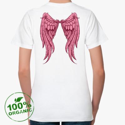 Женская футболка из органик-хлопка Крылья