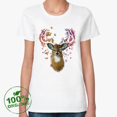 Женская футболка из органик-хлопка Олень