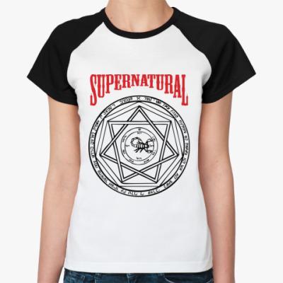 Женская футболка реглан Devil's Trap - Supernatural