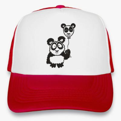 Кепка-тракер Панда с шариком
