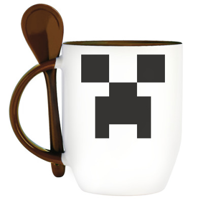 Кружка с ложкой Creeper Minecraft
