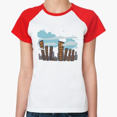 Женская футболка реглан   City