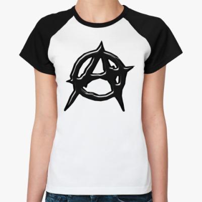 Женская футболка реглан Anarchy