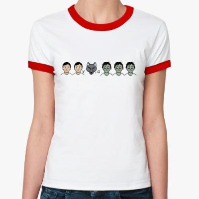 Женская футболка Ringer-T Зомбилэнд