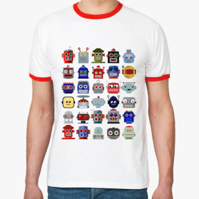 Футболка Ringer-T   Роботы